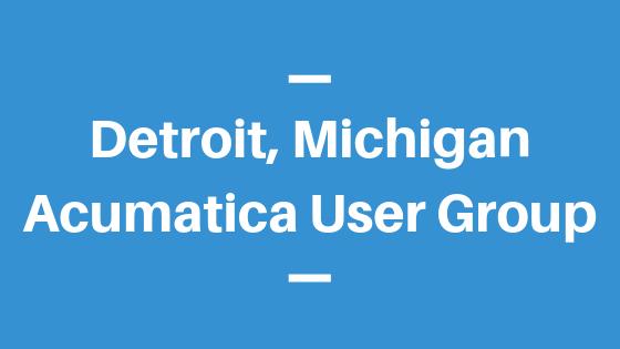 Acumatica User Group in Detroit,Michigan