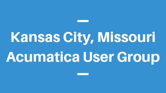 Acumatica User Group in Kansas City,Missouri