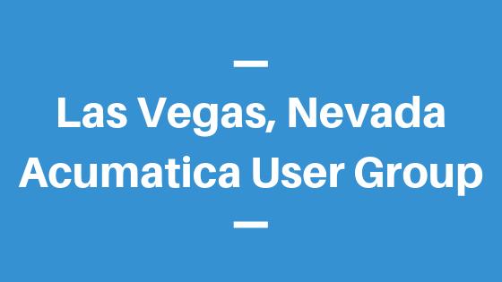 Acumatica User Group in Las Vegas,Nevada