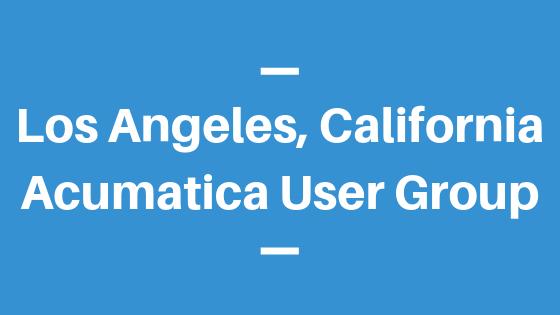 Acumatica User Group in Los Angeles,California