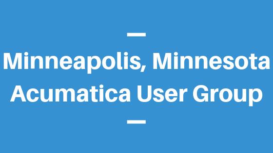 Acumatica User Group in Minneapolis,Minnesota
