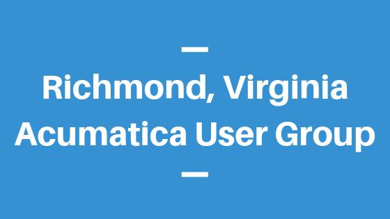 Acumatica User Group in Richmond, Virginia