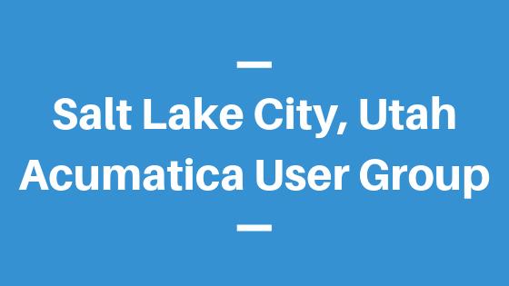 Acumatica User Group in Salt Lake City, Utah