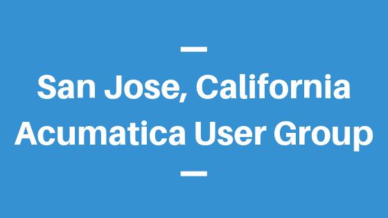 Acumatica User Group in San Jose, California