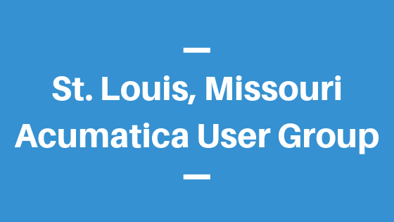 Acumatica User Group in St. Louis, Missouri