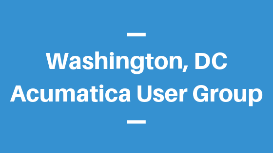 Acumatica User Group in Washington, DC