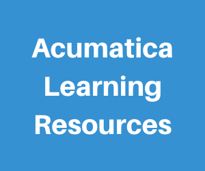 Acumatica Learning Resources