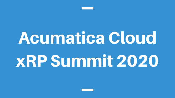 Acumatica Cloud xRP Summit 2020