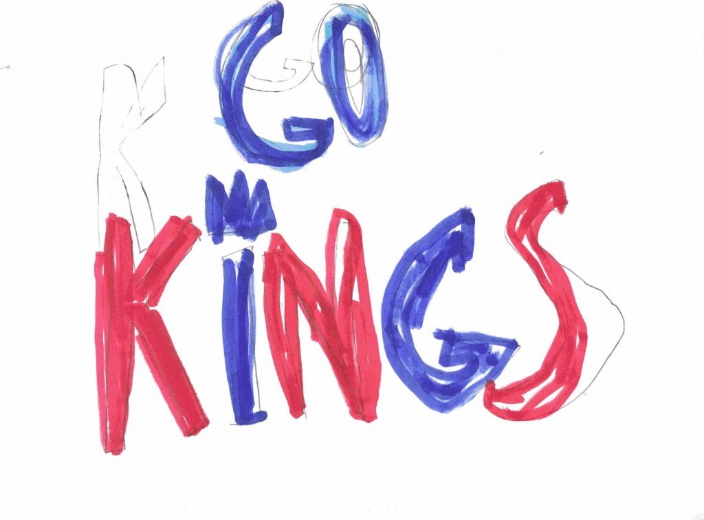 "Summer Gidden's drawing ""Go Kings"""