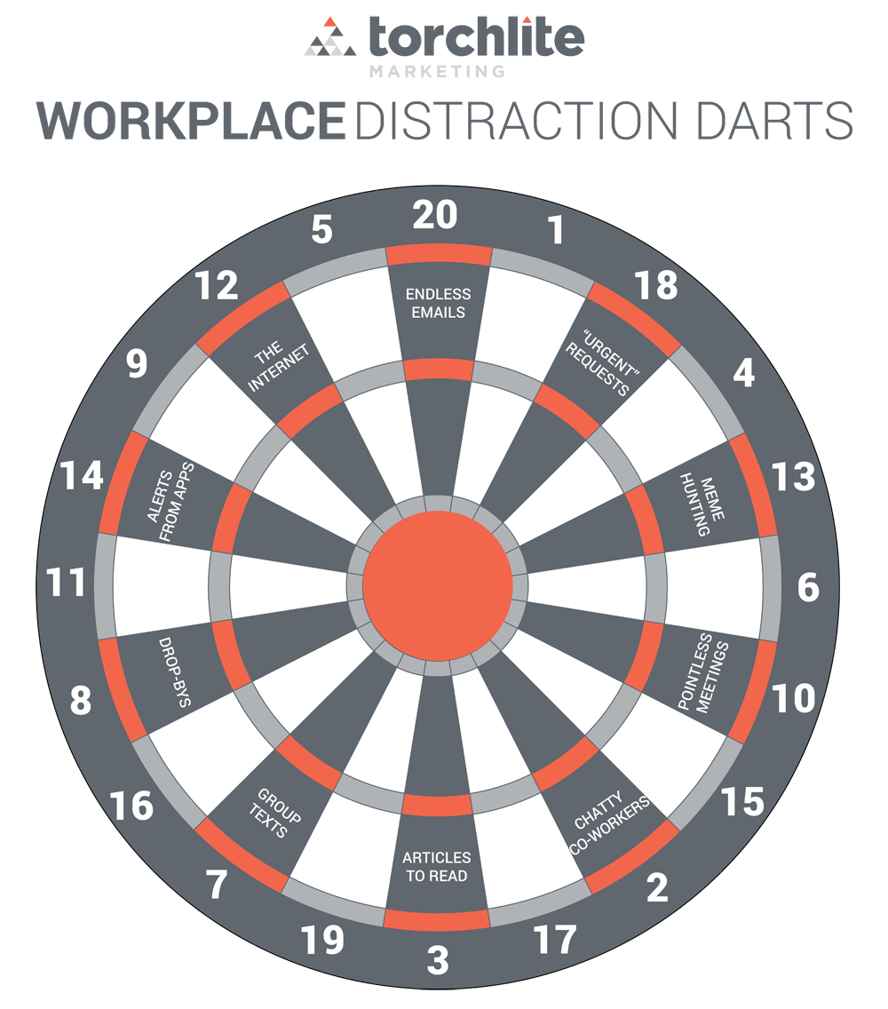 Office stress-reliever: Play a game of Workplace Distraction Darts