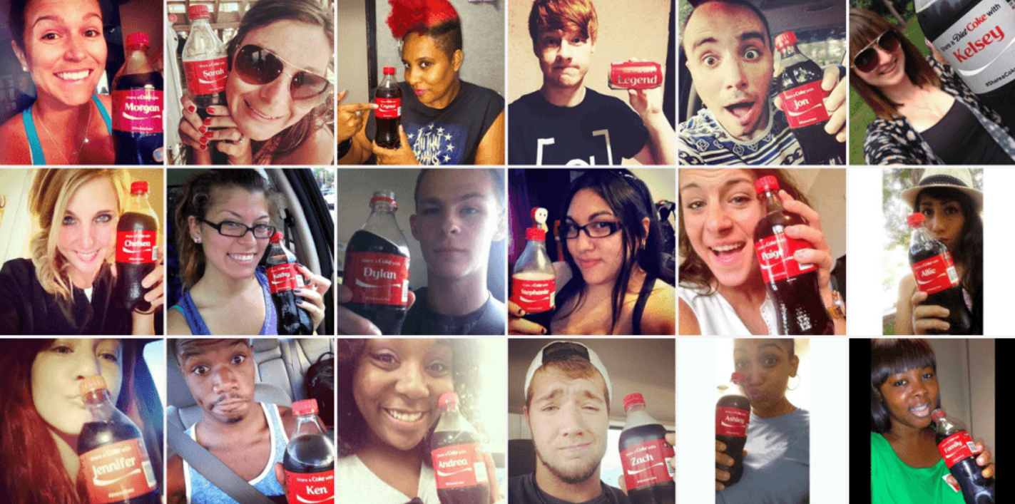 user generated content for Coca Cola