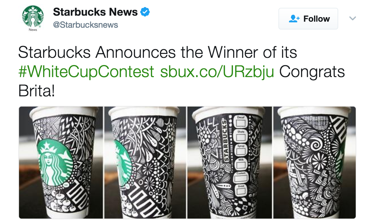 Starbucks user generated content