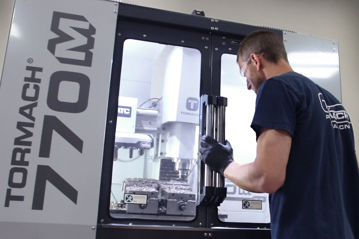 Milling on the 770M CNC milling machine