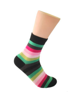 Mutli-colored striped socks