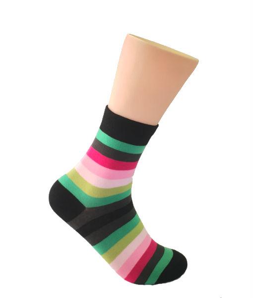 Mutli-colored striped socks