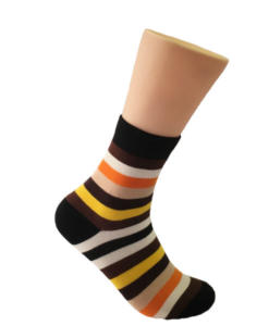 Brown & Orange Striped Socks