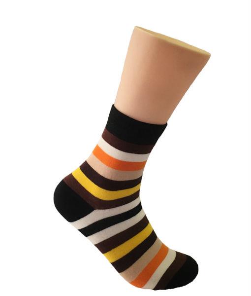 Brown & Orange Striped Socks