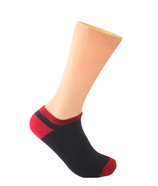 Red-and-Blue-No-Show-Socks