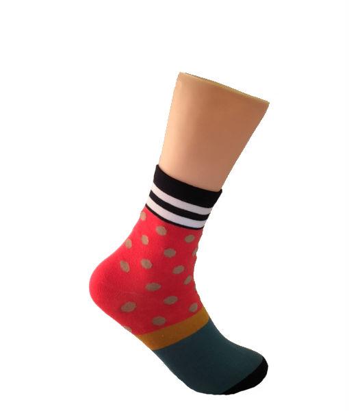 Salmon-with-Brown-pockadot-Socks