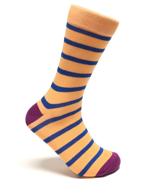 Orange and Blue Striped Socks