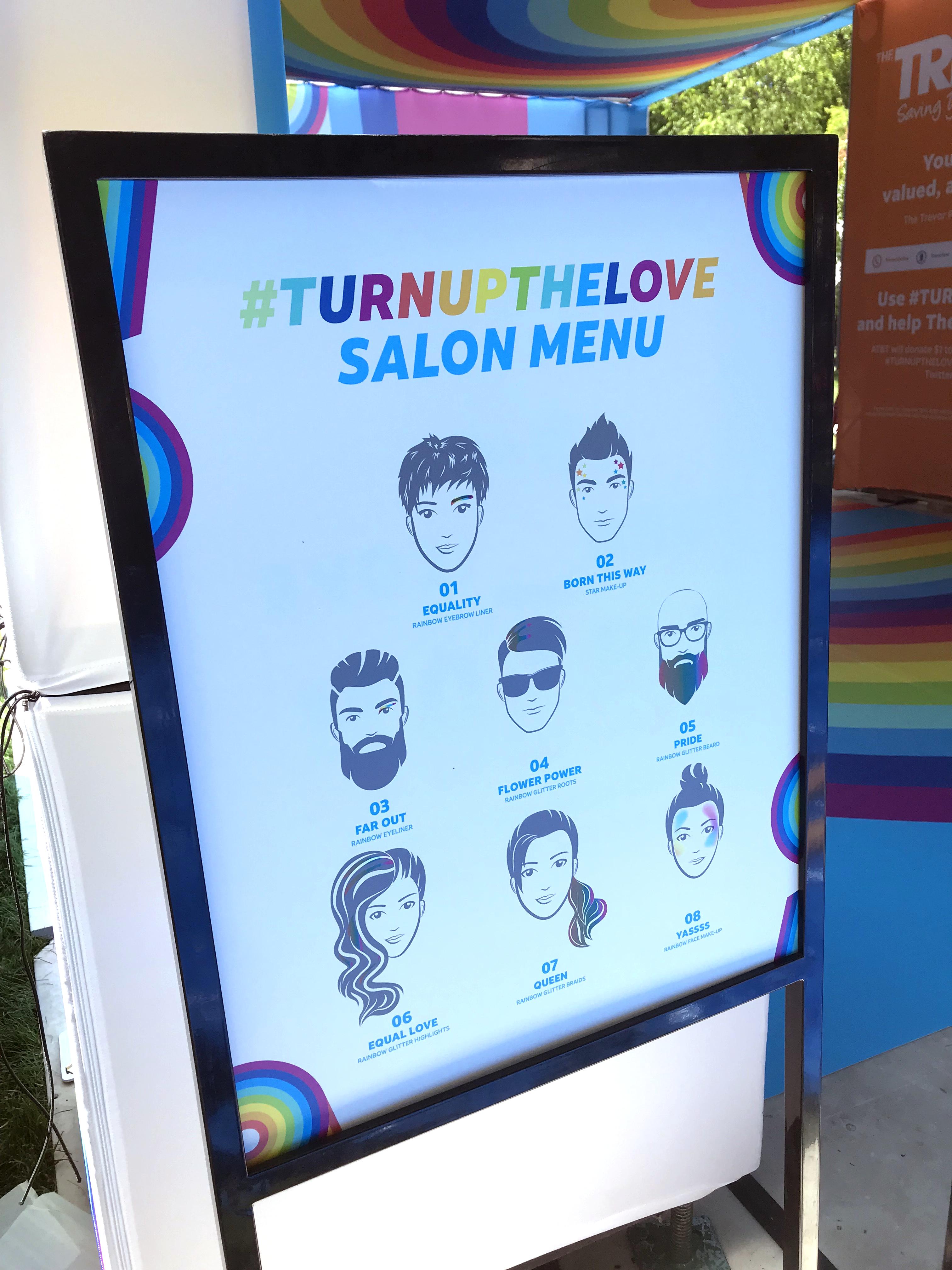 TurnUpTheLove Menu Utah Pride 2019