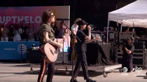 Tegan and Sara performing live at LOVELOUDfest 2019