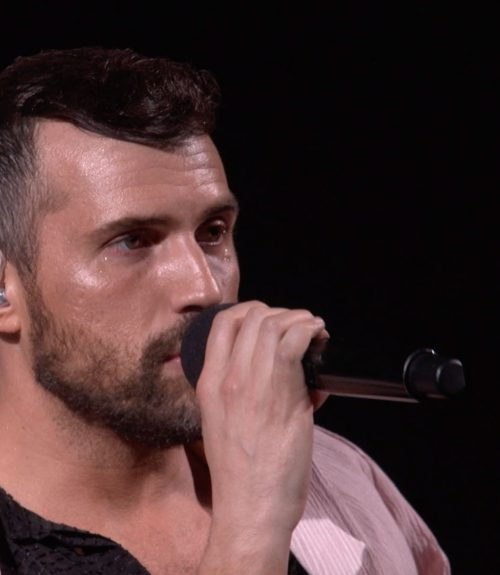 Tyler Glenn performing at LOVELOUD 2019