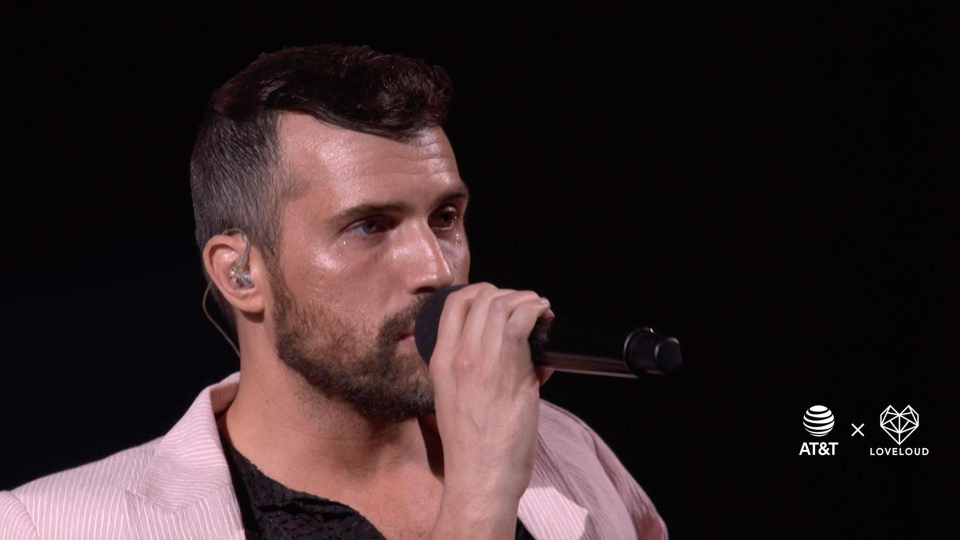 Tyler Glenn performing at LOVELOUD 2019