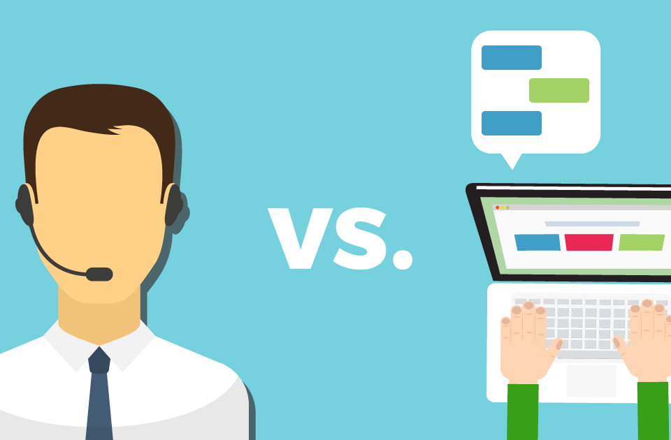 Live chat versus Live Voice