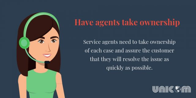 Have agents take ownership