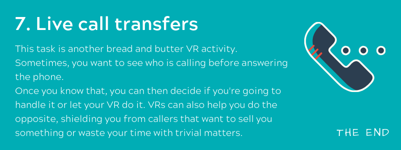 Live call transfers - Virtual Receptionist
