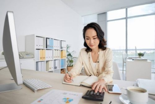 A CPA works in an office.