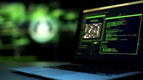 Laptop displays back-end coding information