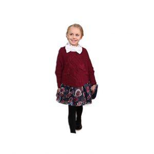 فستان بناتي من الصوف