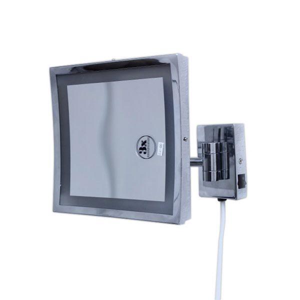 مرآة الحائط المربعة المكبرة المضيئة LED