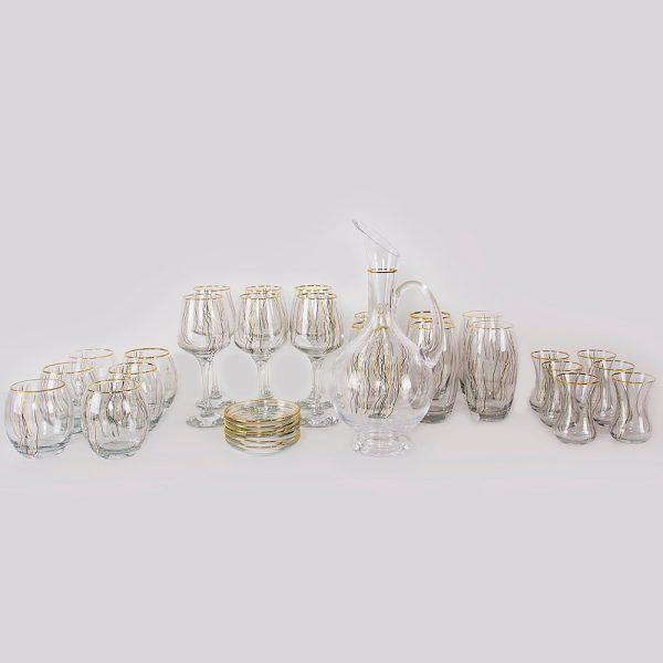 طقم تقديم مشروبات زجاجي 31 قطعة KCT015