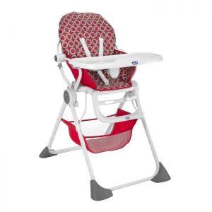 كرسي الطعام العالي Pocket Lunchلون أحمر