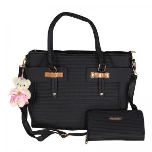 حقيبة يد نسائية مع محفظة