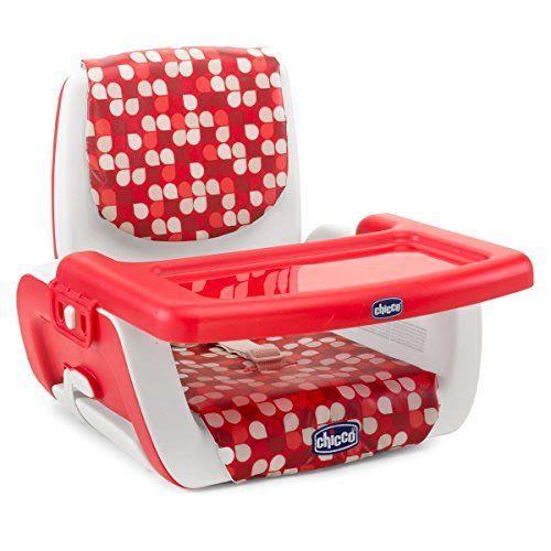 مقعد الطعام للاطفال لون أحمر من تشيكو