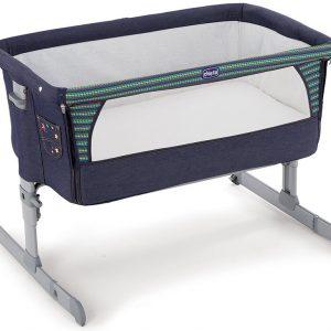 مهد النوم المشترك اللون أزرق