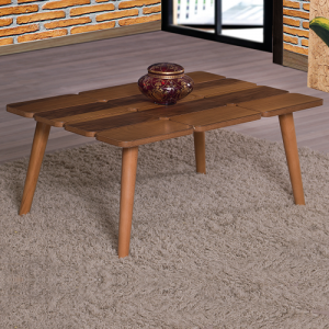 طاولة ضيافة لون خشبي بحواف متميزة