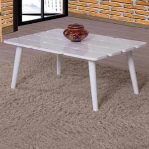 طاولة ضيافة لون أبيض بحواف متميزة ذ،