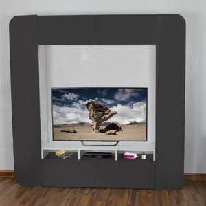 طاولة تلفاز أوفيس ستايل بأرفف ووحدات تخزين صناعة خشبية