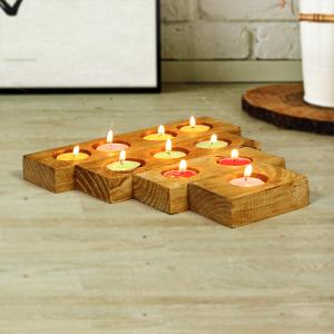 حامل الشموع من الخشب 4 قطع