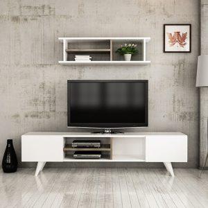 طاولة تلفاز موديل نيو دور صناعة خشبية
