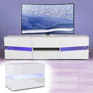 العرض المميز لطاولة تلفاز موديل ستايلش إضاءة LED