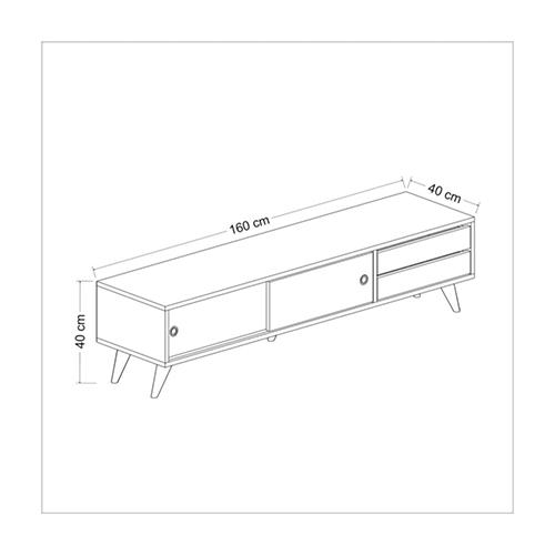 مقاسات طاولة تلفاز خشبي