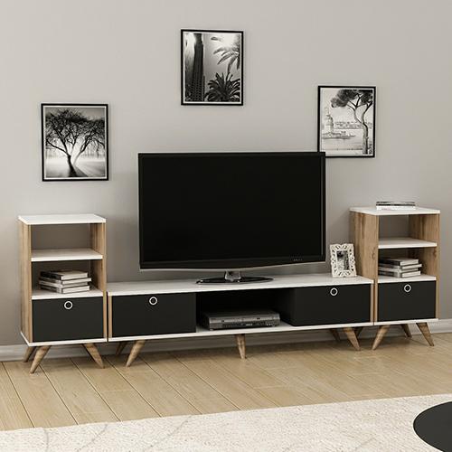 طاولة تلفاز مع طاولات جانبية