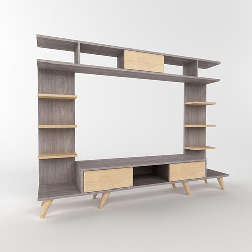 طاولة تلفاز موديل روتيرو - بني