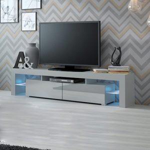 طاولة تلفاز موديل ماريولا 1 إضاءة ليد صناعة خشبية